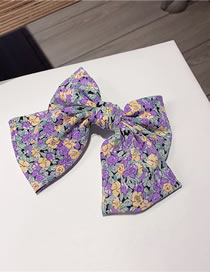 Fashion Purple Rose Chiffon Floral Butterfly Combined With Blonde Clip