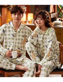 Fashion Puppy Printed Cotton Long-sleeved Thin Cardigan Home Service Couple Pajamas Women