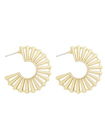 Fashion Gold Color Alloy C-shaped Hollow Earrings
