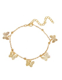 Fashion Alloy Hollow Butterfly Pendant Handmade Anklet