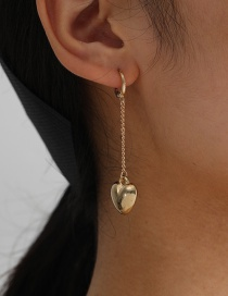 Fashion Gold Color Love Chain Alloy Earrings