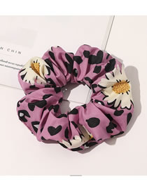 Fashion Rose Red Leopard Print Cloth Art Daisy Large Intestine Ring Hair Rope