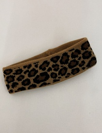 Fashion Leopard Leopard Knit Stretch Headband