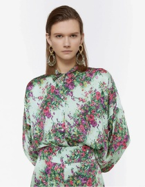 Fashion Colorful Floral Print Shirt Top