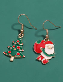 Fashion Santa Claus Alloy Drip Oil Santa Claus Christmas Tree Christmas Earrings