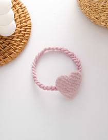 Fashion Pink Love Hit Color Elastic Hair Rope Set