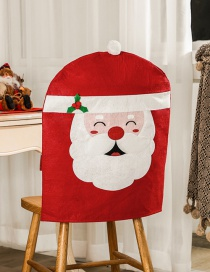 Fashion Red Christmas Old Man Embroidery Handmade Seat Cover