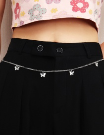 Fashion Silver Butterfly Alloy Waist Chain