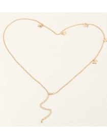 Fashion Golden Butterfly Alloy Waist Chain