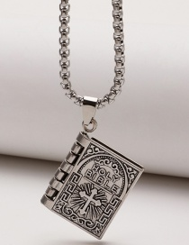 Fashion Cross Cross Blade Geometric Square Alloy Alphabet Necklace