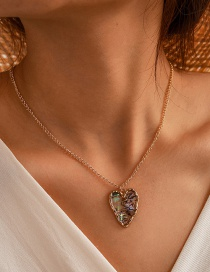 Fashion Golden Love Abalone Shell Alloy Necklace