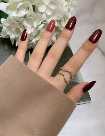 Fashion Gold Color Coloren Curved Geometric Lines Irregular Ripple Curved Double-layer Ring