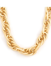 Fashion Gold Color Coloren Pattern Shiny Chain-like Alloy Necklace