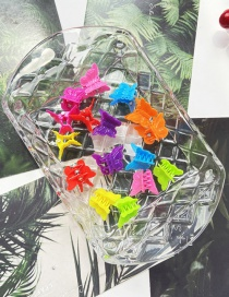 Fashion Color Mixing Butterfly Resin Hit Color Hairpin Set