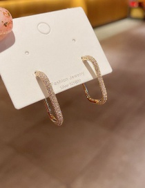 Fashion Alloy Plated Geometric Micro Zircon Earrings