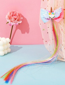Fashion Unicorn Bow Butterfly Animal Contrast Color Childrens Wig Braids