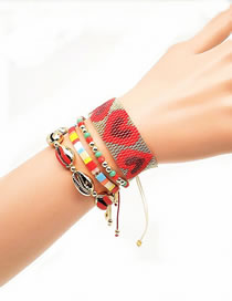 Fashion Set Price Red Hand-woven Love Shell Bracelet