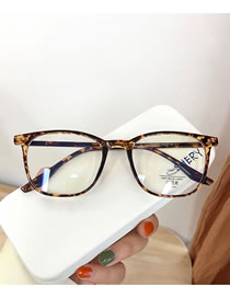 Fashion Leopard Transparent Rice Nail Geometric Flat Glasses