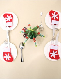 Fashion Red Christmas Decoration Small Socks Cutlery Set