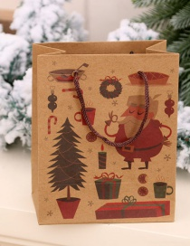 Fashion Senior Christmas Kraft Paper Gift Bag
