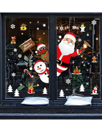 Fashion Santa Claus Christmas Window Glass Doors And Windows Office Decoration Wall Stickers