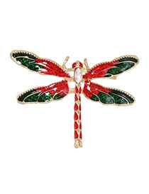 Fashion Dragonfly Alloy Greased Insect Dragonfly Brooch