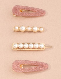 Fashion Suit Pearl Resin Geometric Alloy One-word Hairpin