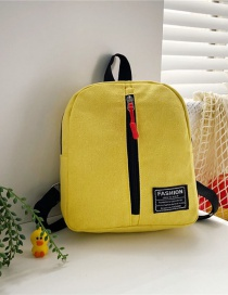 Fashion 19 Inch Three Yellow Canvas Bunny Elephant Stitching Contrast Backpack