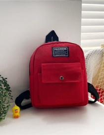 Fashion 16 Inch Two Red Canvas Bunny Elephant Stitching Contrast Backpack