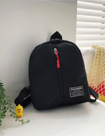 Fashion 16 Inch Three Black Canvas Bunny Elephant Stitching Contrast Backpack