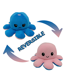 Fashion Pink+blue Double-sided Flip Doll Octopus Plush Doll