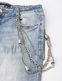 Fashion Spring Butterfly Cross Leaf Alloy Pendant Waist Chain