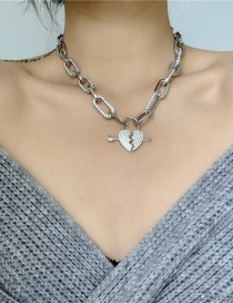 Collar Con Costuras De Diamantes Con Purpurina Love Chain