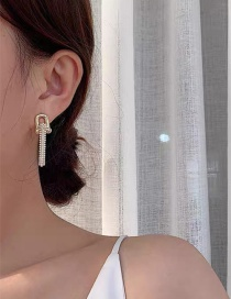 Fashion Large Pearl Chain Stitching Earrings