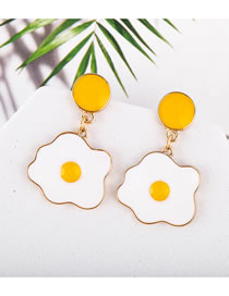 Fashion Yolk Egg Yolk Drop Oil Bright Earrings