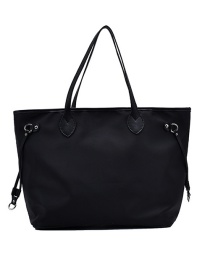 Fashion Black Large Capacity Oxford Shoulder Bag
