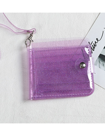 Fashion Light Purple Transparent Halter Jelly Laser Card Holder
