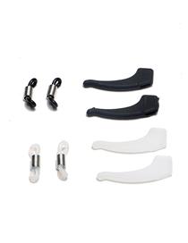 Fashion Black+white Glasses Chain Glasses Rope Mirror Angle Silicone Anti-skid Ring A Set Of Glasses Accessories