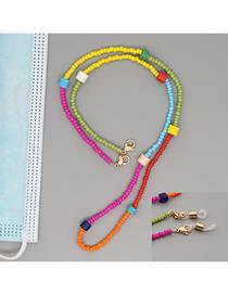 Fashion Mixing 4 Handmade Beaded Rice Bead Flowers Multifunctional Non-slip Glasses Chain