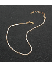 Fashion White Alloy Diamond Butterfly Claw Chain Necklace