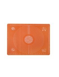 Fashion Orange-50*40cm Square Silicone Kneading Pad