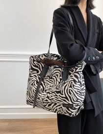 Fashion Zebra Canvas Zebra Print Shoulder Bag