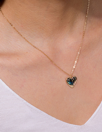 Fashion Colored Abalone Love Abalone Shell Alloy Necklace