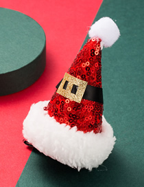 Fashion Hat Christmas Flannel Sequins Christmas Hat Children Hairpin