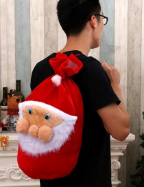 Fashion Old Man Face Bag Christmas Old Man Backpack Gift Gold Velvet Bag Candy Bag