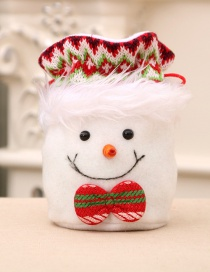 Fashion Snowman Christmas Old Man Snowman Candy Apple Closing Gift Bag