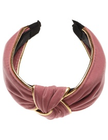 Fashion Pink Striped Knotted Fabric Wide-brimmed Headband