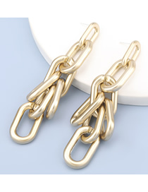 Fashion Gold Color Geometric Tandem Long Earrings