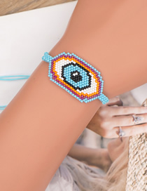 Fashion Eye Rice Beads Handmade Beaded Eye Bracelet