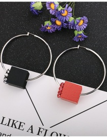 Fashion Color Mixing Asymmetric Geometric Circle Earrings With Diamonds